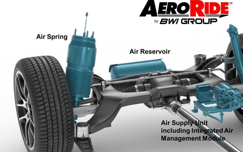 AeroRide Air Suspension with labels