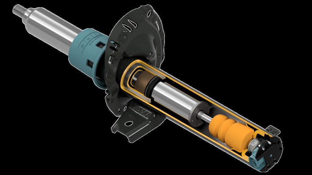 MagneRide Active Suspension System Strut Shock Absorber Damper - cutaway